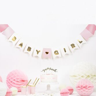 Girlande Babyparty Baby Girl