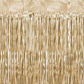 Glittervorhang 90 x 250cm Rosegold Lametta Vorhang Party Geburtstag Deko