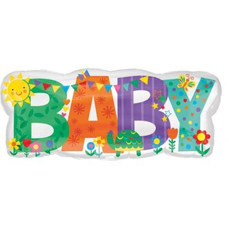 Folienballon Babyparty BABY 83 x 35 cm