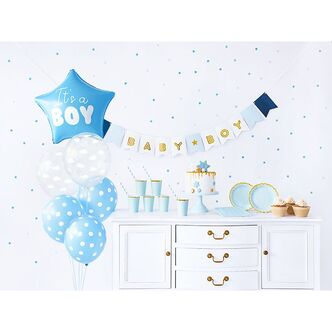 Babyparty Deko Box Its a boy hellblau