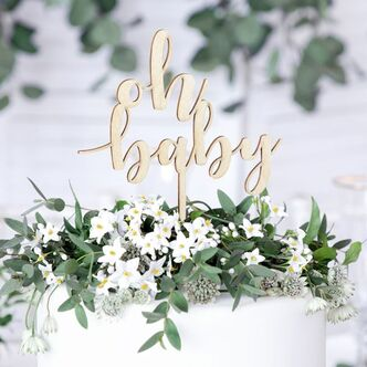 Cake Topper aus Holz Oh baby
